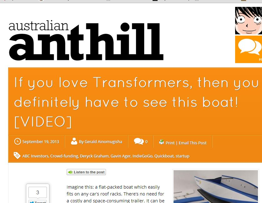 Quickboats on Anthill Magazine