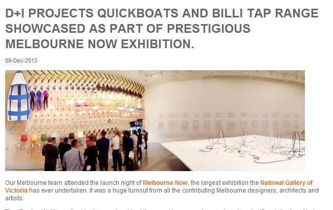 D+I projects' Quickboats as part of the Melbourne Now Exhibition
