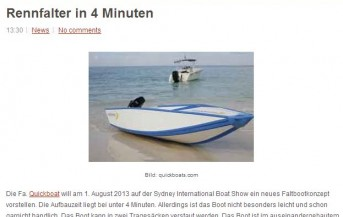 Quickboats on a German Blog