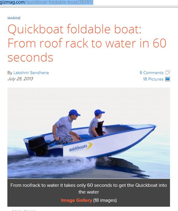 Quickboats on Gizmag