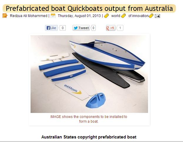 Quickboats on a Malay Blog