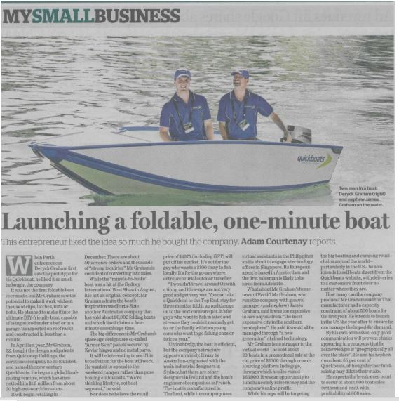 Quickboats on Sydney Morning Herald