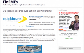 Quickboats on FinSMEs.com