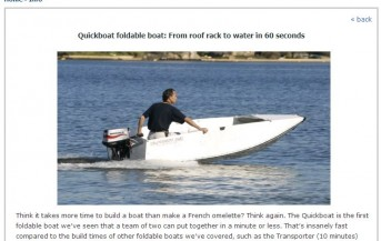 Quickboats on Iknow.com