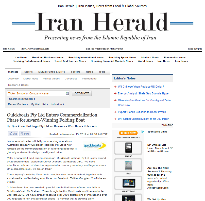 Quickboats on IranHerald.com