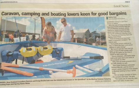 Eastcoast Outdoors Australia making Quickboat news in Mackay