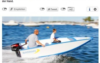 Quickboats on a German Newspaper