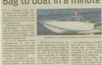 Quickboats on Daily Telegraph (NSW)